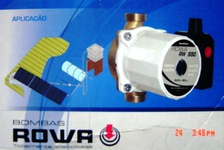 Bomba Recirculação Solar Rowa 220v - RWS50