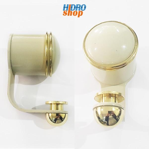 Cabide Doumo Plus Bege Com Dourado - 2060E74BEDO