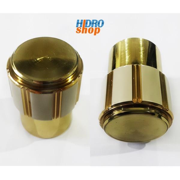 Cabide Maxim Deca Dourado Com Bege - 2060E75BEDO