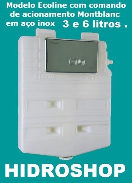 Caixa Embutir Montana Ecoline 3 e 6 Litros Inox - A6C3706701