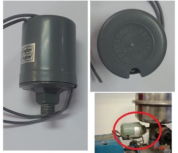 Chave Pressão Pressostato Para Pressurizador Rosca Macho 1/4 - 10306700