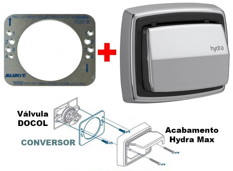 Conversor Válvula Docol para Acabamento Hydra Max - 155201