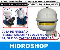 Cuba De Pressão Pressurizador Tp 820 Tp825 Komeco, Equibras, Inova Modelo Antigo - 0100021403