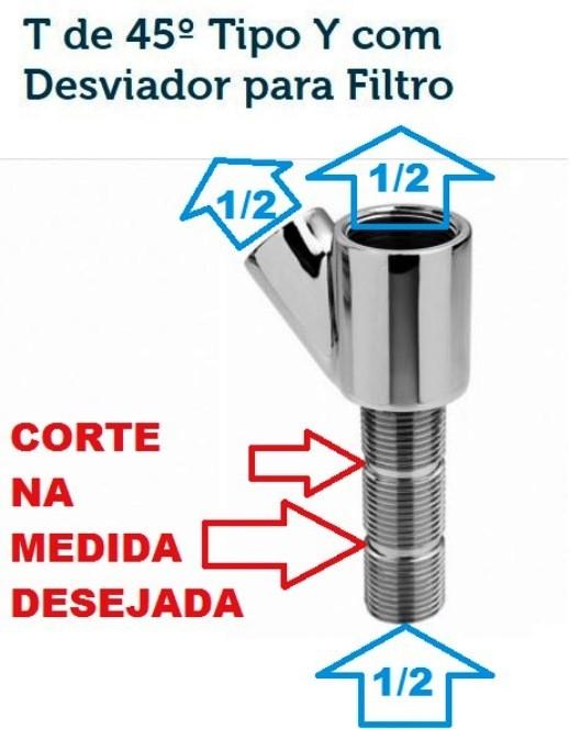 Derivação 45º Tipo Y Com Desviador para Filtro - 170205