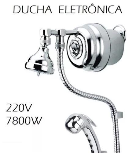 DUCHA ELETRÔNICA LUXO COM RESISTÊNCIA BLINDADA 7800W AQ079/2