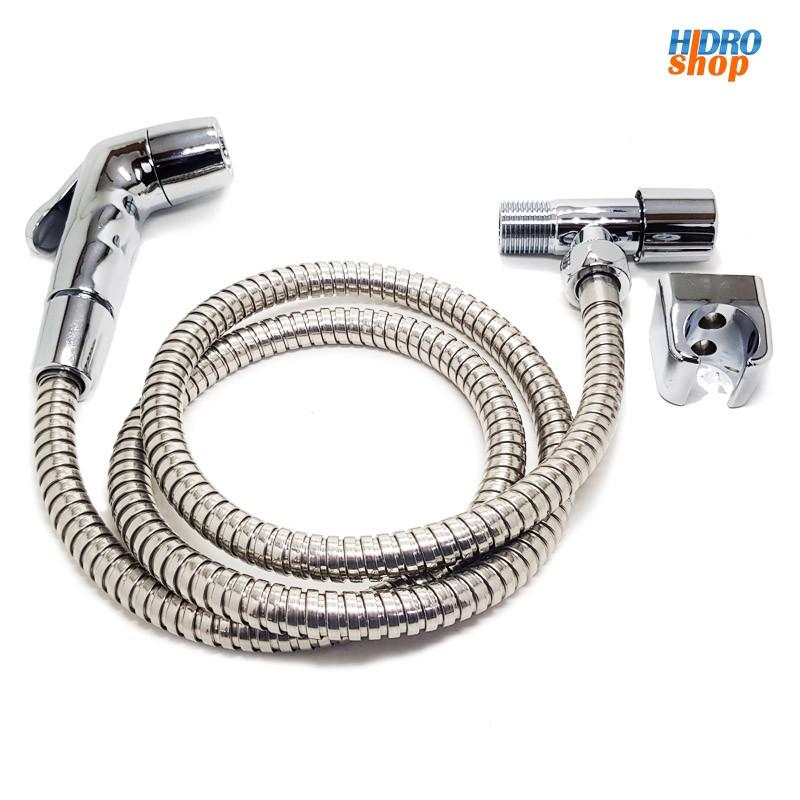 Ducha Higiênica Cromada Suporte e Flexivel - 2300018