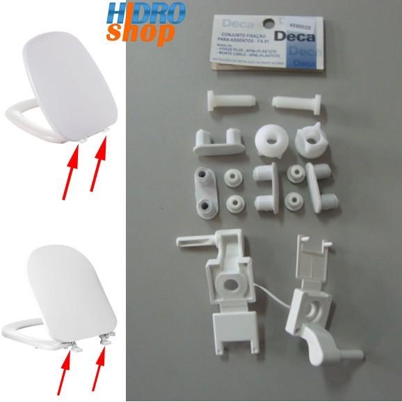 Fixação Assento Sanitário Deca Branco Monte Carlo Vogue Plus FX0117