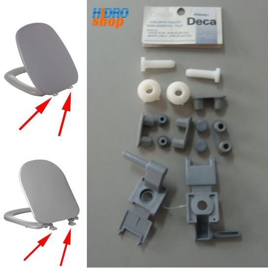 Fixação Assento Sanitário Deca Cinza Vip Monte Carlo e Vogue Plus - 1100FX0190