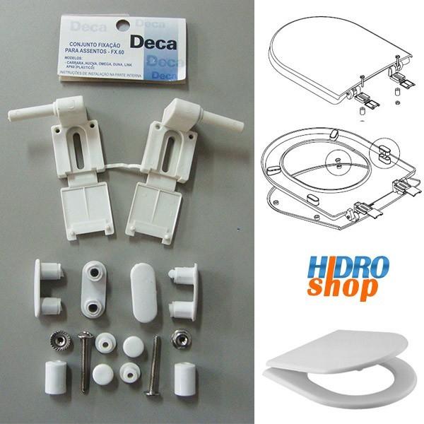 Fixação Assento Sanitário Deca Fx60 Branco Gelo Nuova Carrara Omega - 1100FX6017