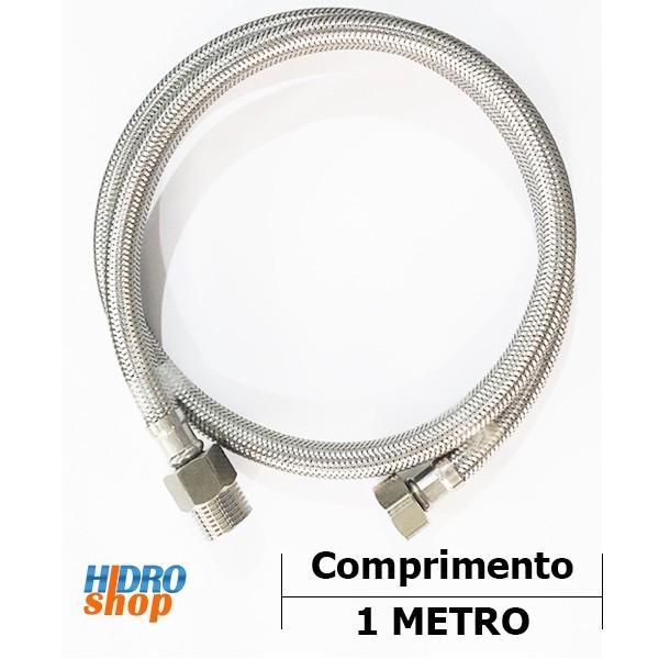 Flexível 1 Metro Malha De Aço Mxf ½ - 4643310