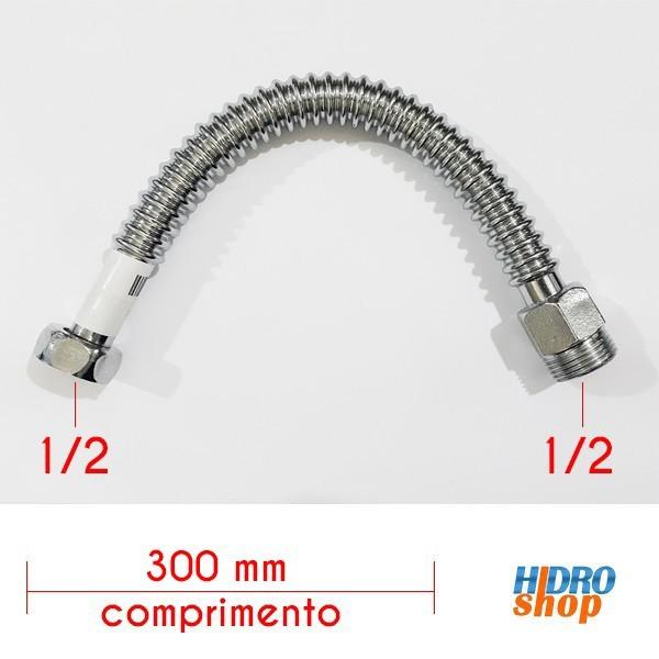 Flexível 300mm Alta Vazão 1/2 Para Aquecedores - FA12300