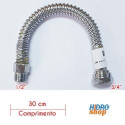 Flexível 300mm Alta Vazão 1/2 X 3/4 30cm Para Aquecedores - FA1234300