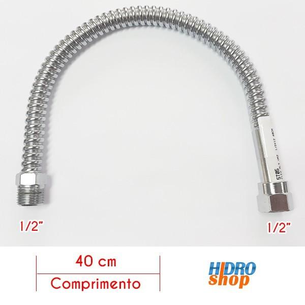 Flexível 400mm Alta Vazão 1/2 Para Aquecedores - FA12400