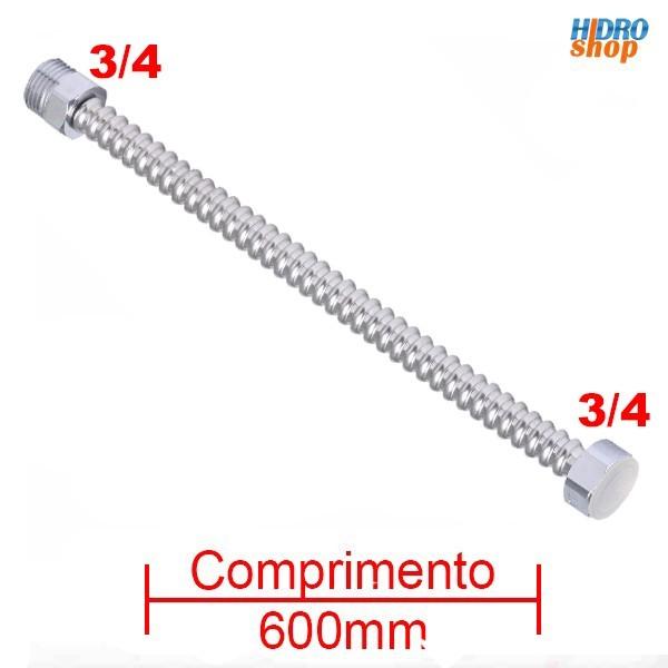 Flexível 600mm Alta Vazão X 3/4 Aquecedores - FA34600