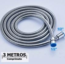 FLEXÍVEL AÇO INOX 3 METROS CROMADO 1/2