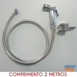 Flexível Cromado 1,75 Mts Com Ducha E Suporte - 2300932K140