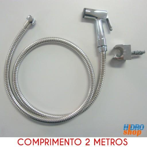 Flexível Cromado 1,75 M Com Ducha E Suporte - 2300932K140