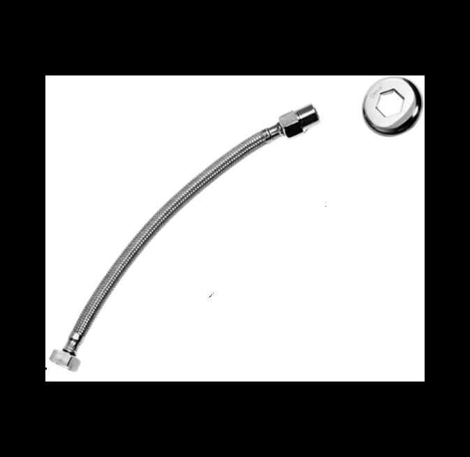 Flexível Deca Malha de Aço Inox 30cm - 4607C030