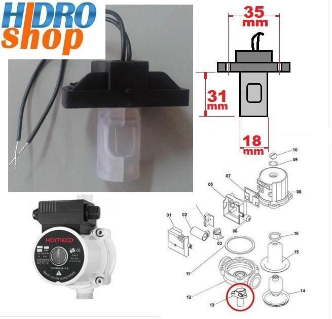 Fluxostato Chave de Fluxo TP 40 G3 G4 Komeco - 0100030143