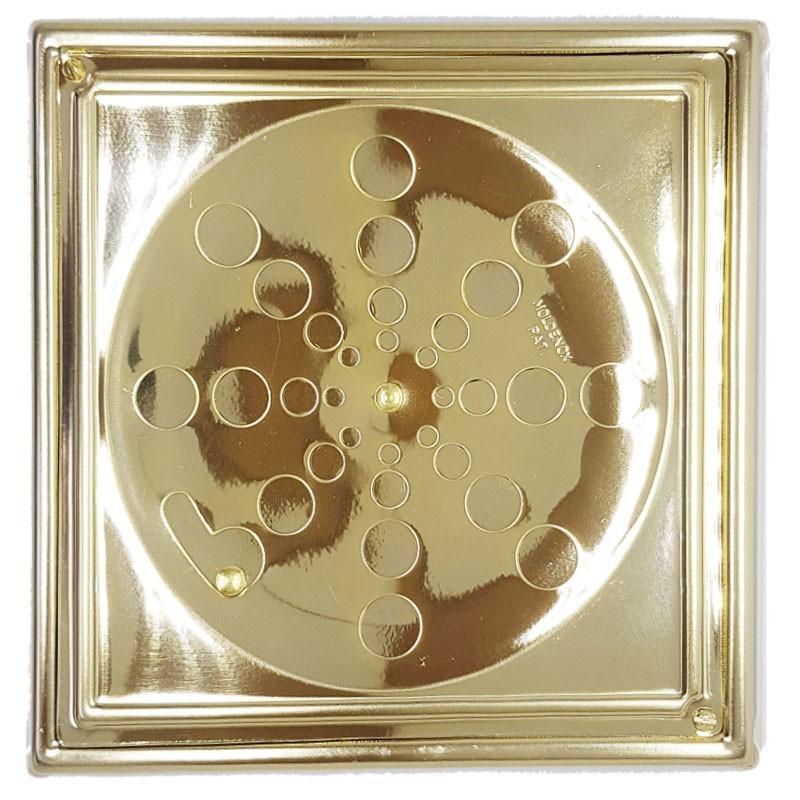 Grelha Quadrada Dourada 15x15 Com Caixilho - 419ADC
