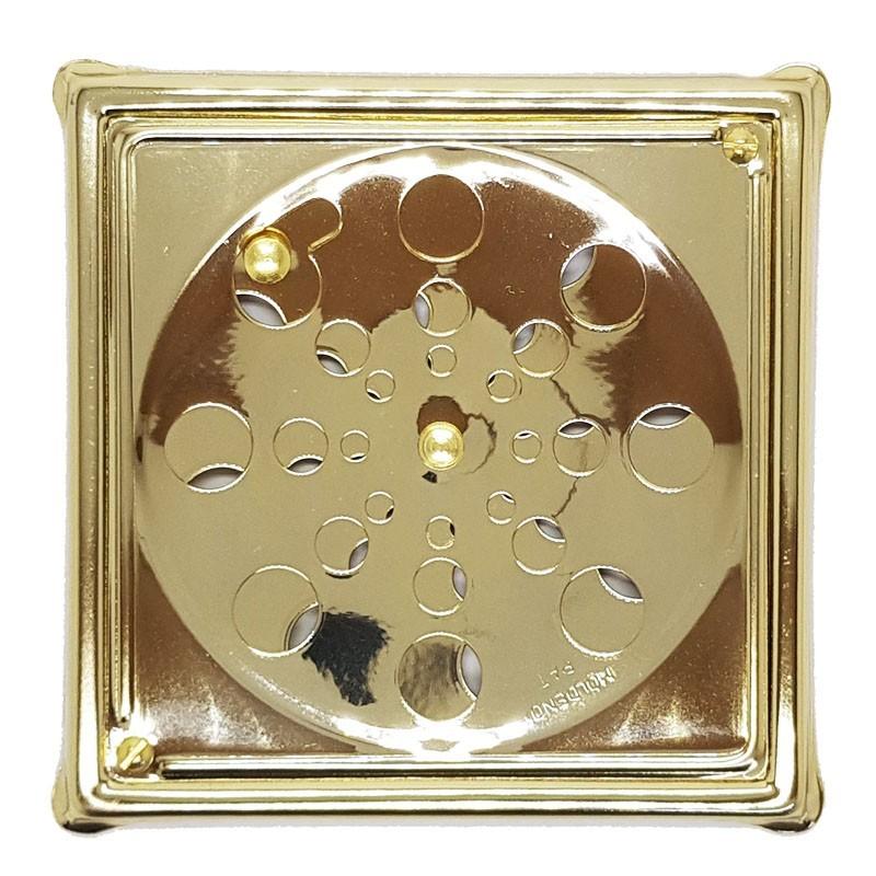 Grelha Quadrada Dourada Com Caixilho 10x10 - 118AD