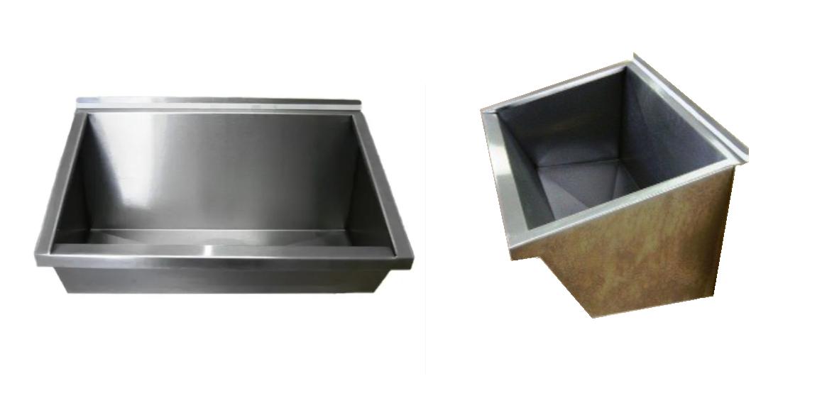 Lavatório Coletivo Em Aço Inox 0,70 Mts - Grátis Válvula Escoamento e Sifão Extensível - LAV700