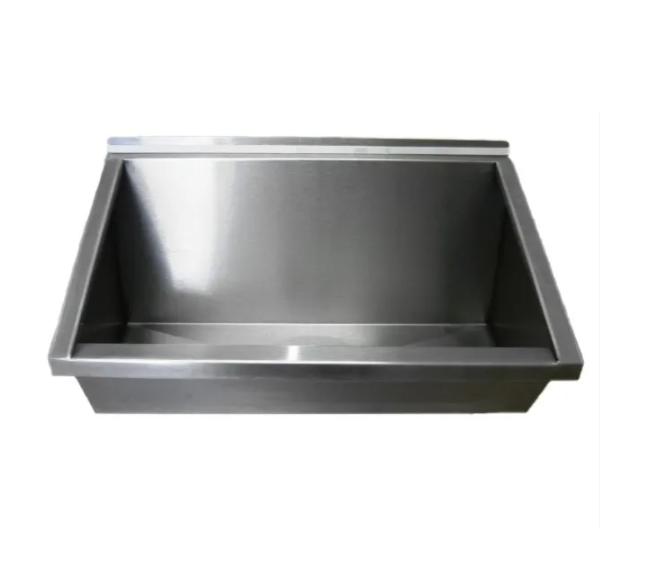 Lavatório Coletivo Em Aço Inox 0,50 Mts - Grátis Válvula Escoamento e Sifão Extensível - LAV500