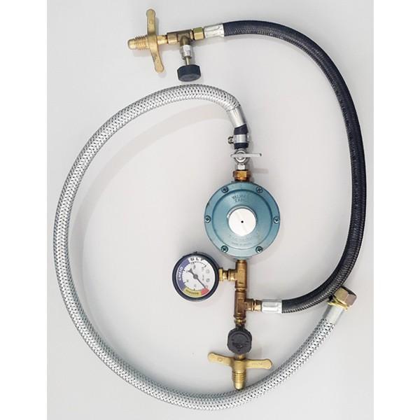 Ligação 02 P13 Com Regulador 7 Kl e Manômetro - 109840