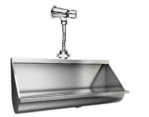 Mictório Coletivo Inox 1 Metro - Grátis Válvula Automática - MICT1000