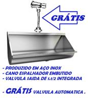 Mictório Coletivo Inox 2,50 Mts - Grátis Válvula Automática - MICT2500