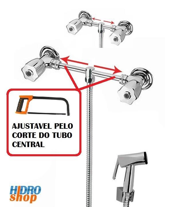 Misturador Externo Ajustável Ducha Higiênica Cromado C50 - 2300927