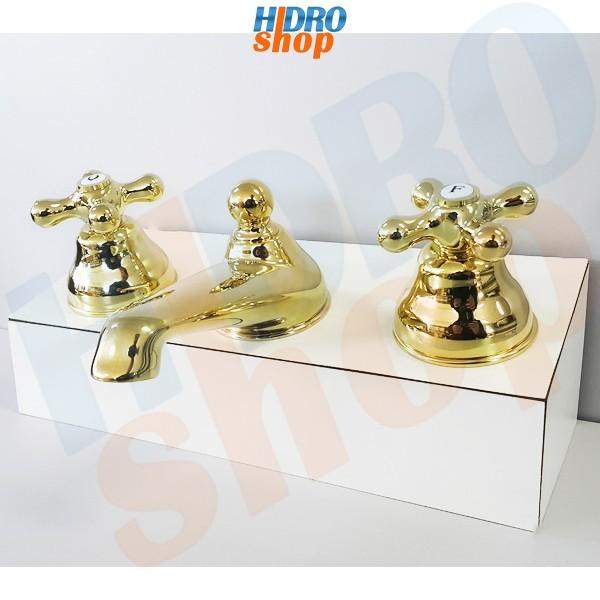 Misturador Lavatório Bica Baixa Deca Belle Époque Dourado - 1875D52