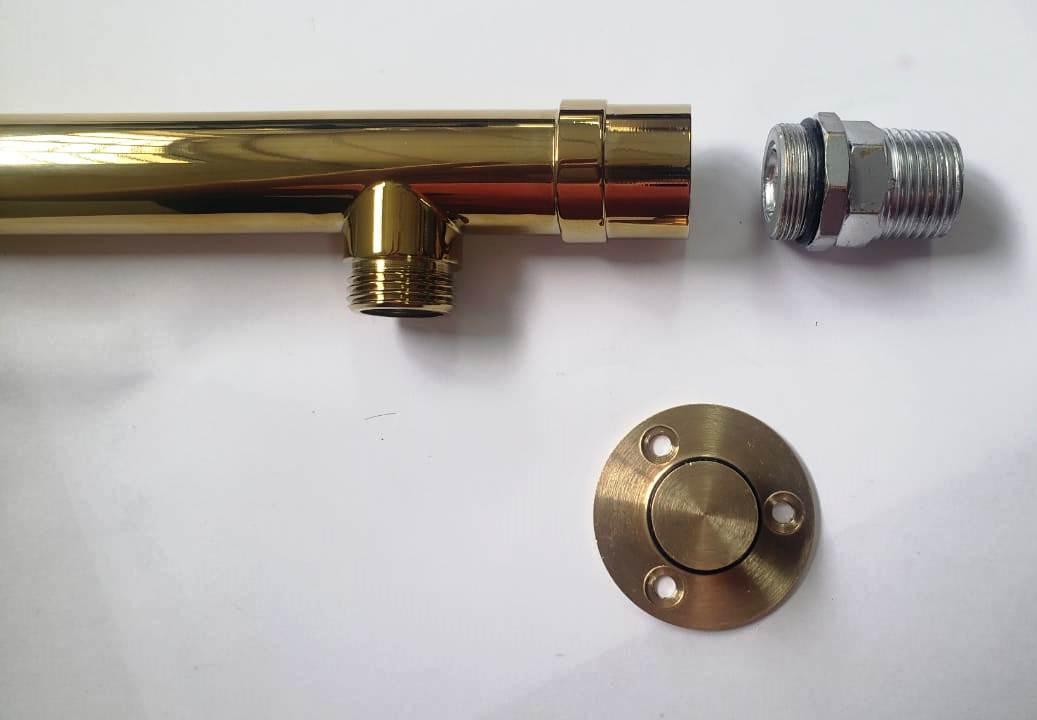 Niple adaptador 1/2 para tubo chuveiro importado rosca fina