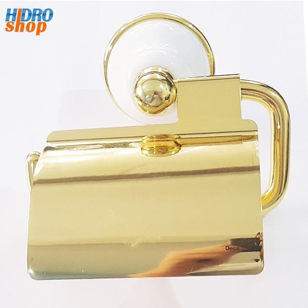 Papeleira Deca Belle Epoque Dourada Com Branco - 2021DOBR