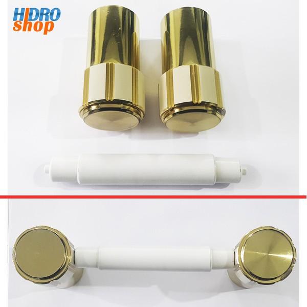 Papeleira Dourada Com Bege Deca Maxim D75 - 2075D75BE