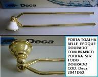 PORTA TOALHA BARRA ARTICULAVEL BELLE EPOQUE DOURADO 2041D
