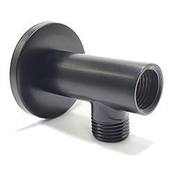 Posicionador Preto Fosco para Ducha Higiênica x Tubo Pex no chão