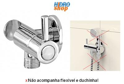 Registro Ducha Higiênica 1/4 Volta Com Suporte - 200203