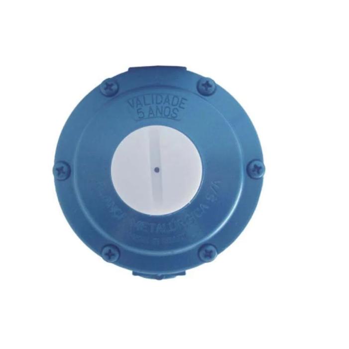 Regulador para Gás Aliança Azul 7 Kg/h 1/4x3/8 - 506-27