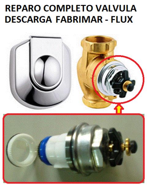 Reparo Válvula Descarga Fabrimar Flux Completo - 06134