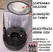 RESISTENCIA DUCHA CARDAL 6500 W 220V