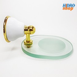 Saboneteira Deca Belle Epoque Branco Dourado - 2010EBRDO