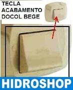 TECLA REFORÇADA DE ABS PARA ACABAMENTO DE VALVULA DE DESCARGA DOCOL BEGE