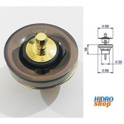 Válvula de Escoamento Banheiro Bidê 1602S  Fume Onix - 1602S