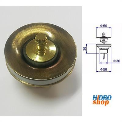 Valvula de escoamento luxo deca ouro velho 1602 G
