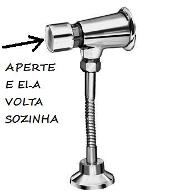 VALVULA DE MICTORIO AUTOMATICA CROMADA