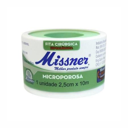 FITA MICROPORE BRANCO - MISSNER 2,5CMX10M