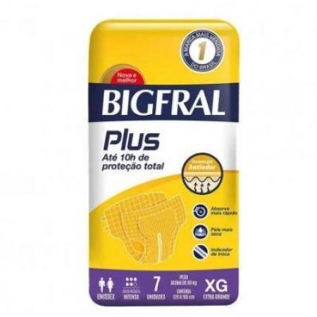FRALDA BIGFRAL PLUS TAM: XG C/ 7