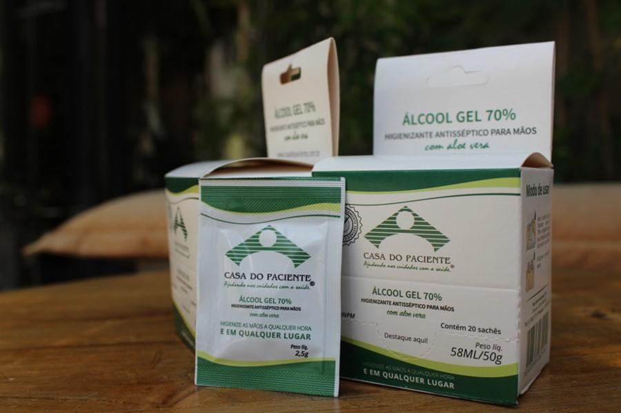 ALCOOL GEL SACHE 2,5G CX C/ 20 - CASA DO PACIENTE