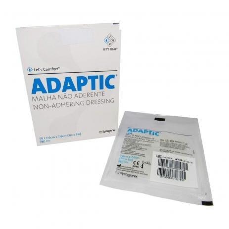 CURATIVO ADAPTIC 7,6 X7,6CM SYSTAGENIX